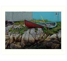 Nova Scotia skiff Art Print