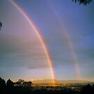 Yarra Valley Rainbow and The Dandenong Ranges. by Ern Mainka