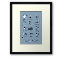 geek love! Framed Print