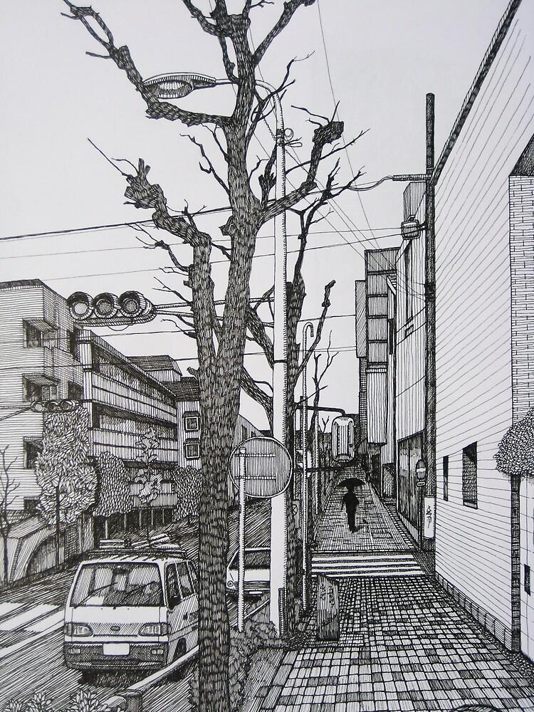 tokyo streetscape by brenluke