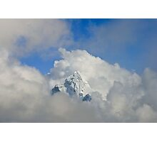 Ama Dablam Solid Cloud Photographic Print