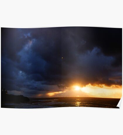sunrise on a stormy morning two Poster