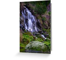 """""""Falling By The Mill"""" Greeting Card"""