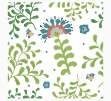 Elegance Seamless pattern with flowers, vector floral illustration in vintage style Baby Tee