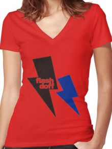 flash doff Women's Fitted V-Neck T-Shirt