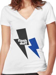 flash doff Women's Fitted V-Neck T-Shirt