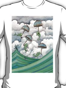 Fish with umbrellas T-Shirt