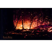 Flying Sparks Photographic Print