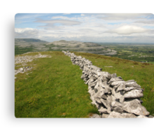 Burren Wall Canvas Print