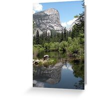 Mirror Lake Reflection of Mt. Watkins Greeting Card