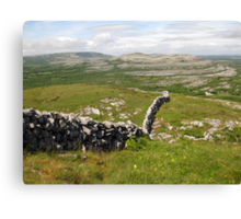 Wall in The Burren Canvas Print