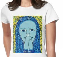 PRAYING LADY Womens Fitted T-Shirt