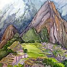 The Lost City of the Incas in Machu Picchu, Peru by BonnieSue