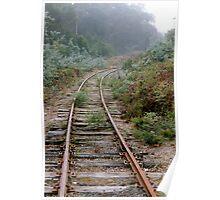 Rusty rails Poster