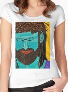 Jesus is Die Brücke Women's Fitted Scoop T-Shirt