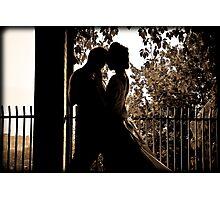 her shadowed lips Photographic Print