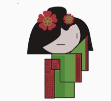 Lime Green Geisha Girl  by Kimberly Temple