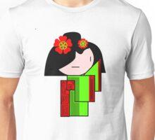 Lime Green Geisha Girl  Unisex T-Shirt