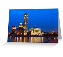 Moscow Riverside at Night Greeting Card