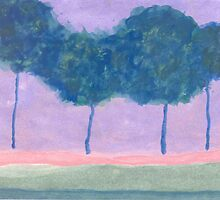 Four Trees by Helene Henderson