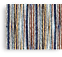 Blue, White, Brown Canvas Print