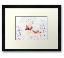 butterfly - white Framed Print