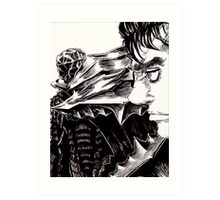 Guts The Black Swordsman  Art Print