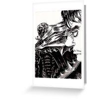 Guts The Black Swordsman  Greeting Card