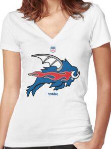 Wild Buffalo Bill Wings Women's Fitted V-Neck T-Shirt