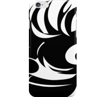 Awesome Crazy Face (Black) iPhone Case/Skin
