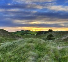 Sunset Over the Sand Dunes by David-Collard