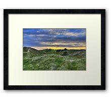 Sunset Over the Sand Dunes Framed Print