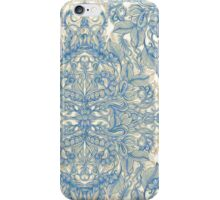 Blue & Tan Art Nouveau Pattern iPhone Case/Skin