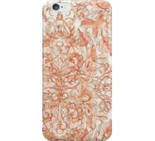 Autumn Peach Art Nouveau Pattern iPhone Case/Skin
