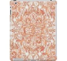 Autumn Peach Art Nouveau Pattern iPad Case/Skin