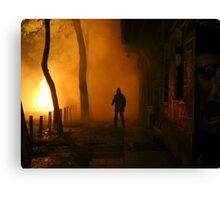 Greek Riots Canvas Print