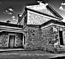 Colonial Justice (Monochrome) - Beechworth Courthouse , Victoria - The HDR Experience by Philip Johnson