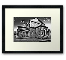 Colonial Justice (Monochrome) - Beechworth Courthouse , Victoria - The HDR Experience Framed Print