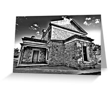 Colonial Justice (Monochrome) - Beechworth Courthouse , Victoria - The HDR Experience Greeting Card