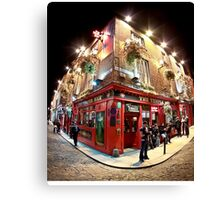 Bright Lights, Big City - Temple Bar - Dublin Ireland Canvas Print