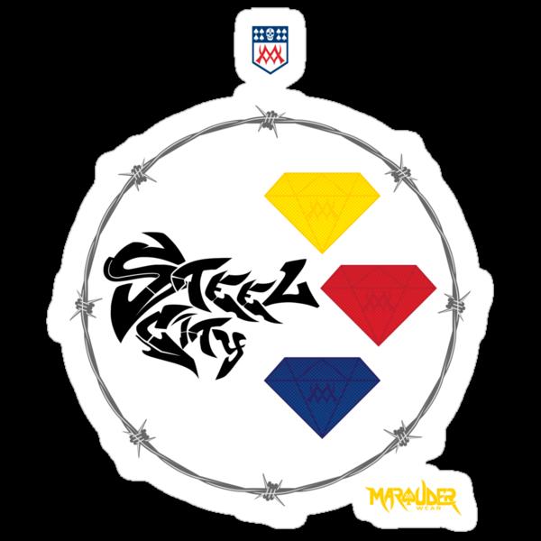 Pitt Steel City Football by Marauder Wear by Summo13