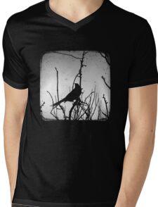 Wattlebird - Black Mens V-Neck T-Shirt