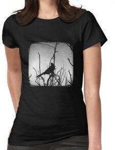 Wattlebird - Black Womens Fitted T-Shirt