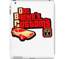 Doc Brown's Custom iPad Case/Skin