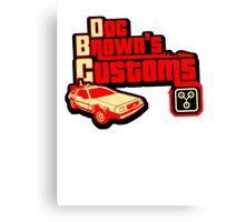 Doc Brown's Custom Canvas Print