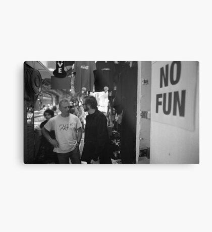 No Fun Zone Metal Print
