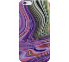 romantic vintage peacock feather green purple swirls  iPhone Case/Skin