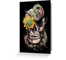 Snake and Skull Greeting Card