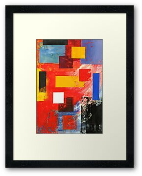 Abstract Squares #3 by Lisa V Robinson