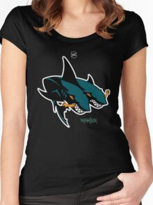 The 2 Headed Sharks From San Jose Women's Fitted Scoop T-Shirt